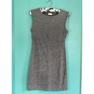 H$M Sleeveless Gray Bodycon Dress